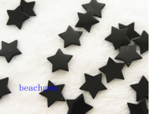 Jewelry Parts-Natural Black Onyx Star Beads pictures & photos
