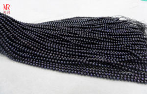 6-7mm Black Round Pearl Strand (ES293) pictures & photos