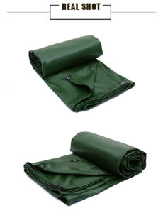 Flame Resistant PVC Laminated Tarpaulin/Tarp for Cover/Tent pictures & photos