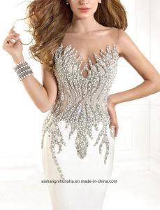 Love May Hot Sale Women Beading Sheath Chiffon Evening Dress Prom Dress pictures & photos