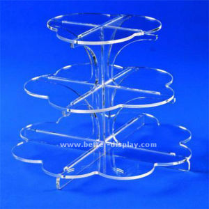 Custom Acrylic 3 Tier Cake Stand pictures & photos