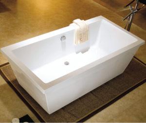 "72"" Floor Standing Acrylic Plastic Bathtub for Adult Portable Bathtub pictures & photos"
