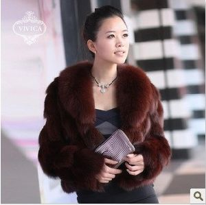 Fassion Warm Ladies′ Fur Coat