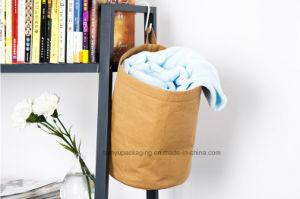 Washable Kraft Paper Bag / Handbag Simple Style Waterproof Reuseable Kraft Paper Canvas Hand Bag pictures & photos
