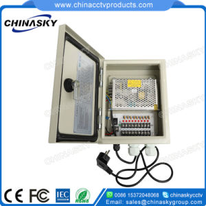 9 Channel 12V DC CCTV Waterproof Distribution Camera Power Supply Boxes (12VDC5A9PW) pictures & photos