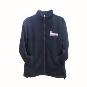 2017 Wholesale Cheap Men′s Black Fleece Jacket with Full Zipper pictures & photos