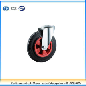 Industrial Black Rubber Tread Swivel Wheel (N1861) pictures & photos