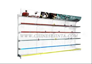 Metal and Glass Wall Shelf with Advertisement Board (JT-A16) pictures & photos