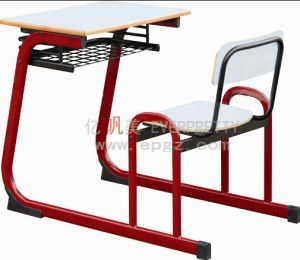 Attached School Table Chair with Desk Drawer for School Furniture pictures & photos