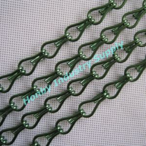 Anodized Green Colour Hook Link Aluminum Chain Fly Screen