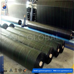 Black Woven Weed Control Barrier Mat Ground Cover in Roll pictures & photos