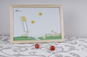 Wooden Frame White Board with Colorful Printing pictures & photos
