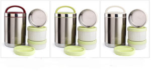 304 Double Layer Stainless Steel Vacuum Lunchbox (WE-0102) pictures & photos