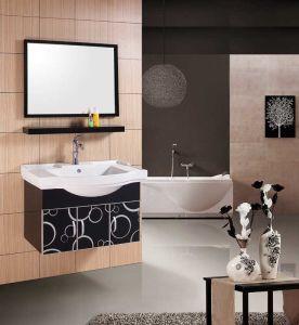 PVC Vanity Sanitaryware Bathroom Cabinet (W-186)