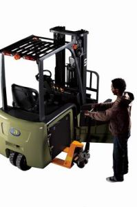 U Series 1.3t 3-Wheel Electric Forklift pictures & photos