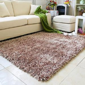 Brown Elastic Silk Carpet Door Mat Livingroom Carpet