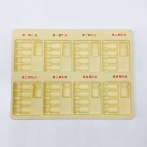 Plastic Packaging Tray for Cosmetic Flocking Tray pictures & photos