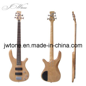 Ash Wood Body Natural Color 5string Bass Guitar pictures & photos