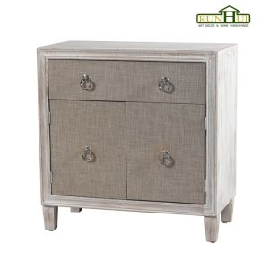 Livingroom Three Doors Whitewash Cabinet with Ample Storage pictures & photos