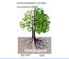Super Absorbent Polymer (SAP, potassium based) for Agriculture as Mini-Water Tanks