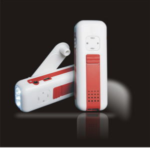 Crank Dynamo Flashlight With Radio and Mobilephone Charger (APM-817)