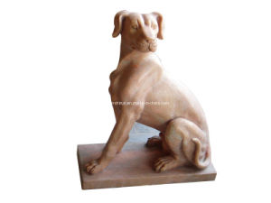 Marble Dog Carving Sculpture (ANL054) pictures & photos
