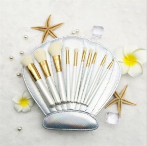 Top Sale 10 Pieces Makeup Brush with Shell Bag pictures & photos