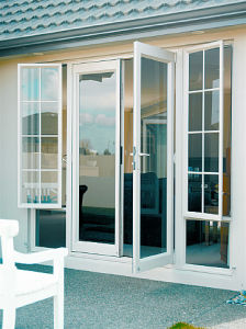 American Quality Aluminium French Doors (Doorwin) , Quality French Door with Beautiful Full Divided Light Grille pictures & photos