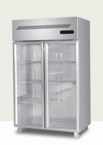 Glass Door Upright Kitchen Refrigerator pictures & photos