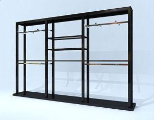 Black Display Shelf with Metal