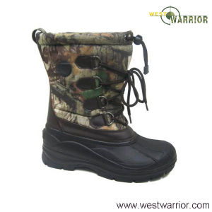 TPR Stitched Snow Boots of Fine Animal Hair for Women (WSB017) pictures & photos