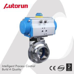 Food Grade Pneumatic Butterfly Valve pictures & photos