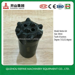 34mm 8 insert tooth Taper Carbon Alloy Button Bit for Mining pictures & photos