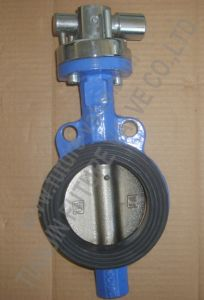 Wafer Butterfly Valve with Carbon Steel Pipe Handle (D71X-125/150)