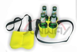 Insulated 4-Pack Neoprene Beer Bottle Cooler (BC0053) pictures & photos