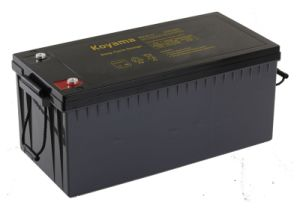 210ah 12V Deep Cycle Battery for Solar Power System pictures & photos