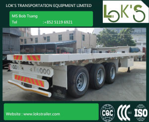 40 Feet 3 Axle Flatbed Truck Trailer pictures & photos