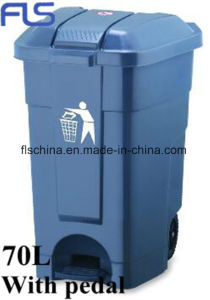 New Model Small Volume 40L Plastic Trash Bin with Pedal pictures & photos