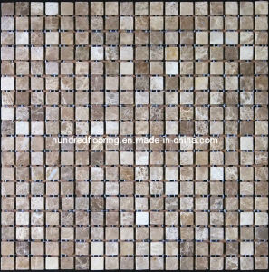 Light Emperador Brown Marble Mosaic Tile (HSM126) pictures & photos