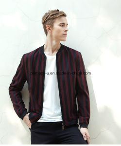 High Quality Men Fashion Casual Striped Thin Jacket pictures & photos