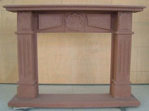 Red Sandstone/Marble Fireplace (SF-2)