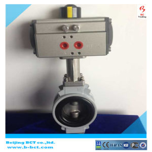 JIS10k Alloy Aluminum Buuterfly Valve with Pneumatic Model: BCT-Alu-BFV04 pictures & photos