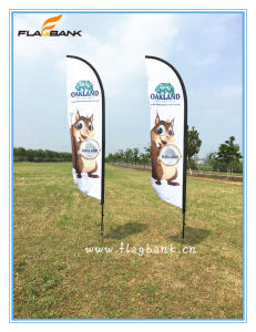 Advertising Aluminium Custom Feather Flying Banner pictures & photos