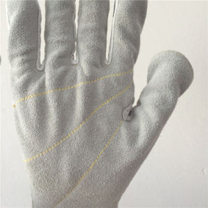 Hppe/Glass Fiber Safety Gloves with Cowhide+Pigskin Sewing, Cut5 pictures & photos