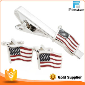 Us Flag Promotional Gift Metal Enamel Tie Bar pictures & photos