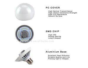 E27 B22 Aluminum Epistar IC Driver SMD2835 270 Degree PF>0.5 Ra>80 Big Mega Globe 15W G120 LED Light Bulb pictures & photos