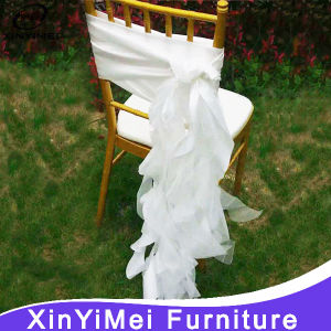 Popular Fancy White Chair Sashes for Weddings pictures & photos