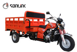 150cc/175cc/200cc Three Wheel Gas Motorcycle Open Cargo Tricycle (SL200ZH) pictures & photos