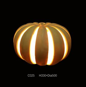 Outdoor Waterproof Square Sandstone Sculpture Pumpkin LED Light Lantern pictures & photos