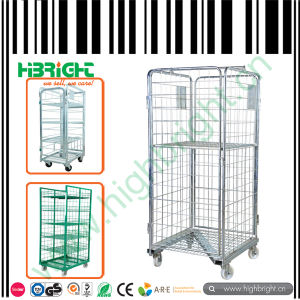 3 Sides Logistic Wire Mesh Roll Container pictures & photos